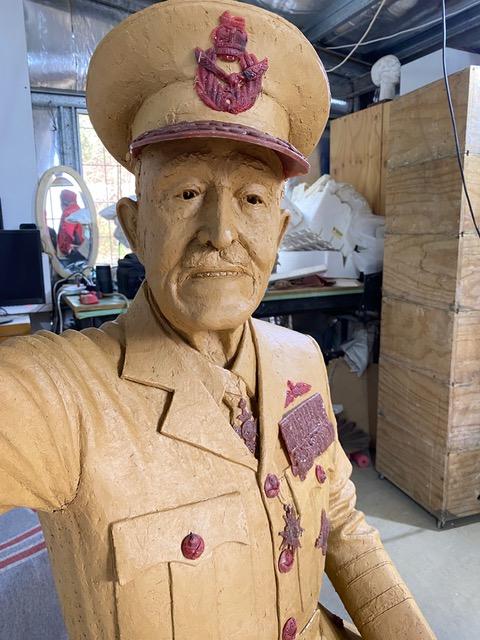 Sir Richard Williams - clay version of sculpture