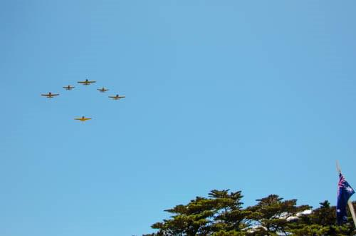 Fly past by Winjeels, CT4's and Harvard aircraft